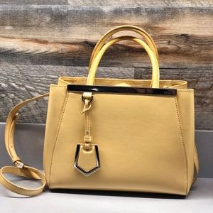 FENDI 2 Jours Petite- light yellow/ butter color
